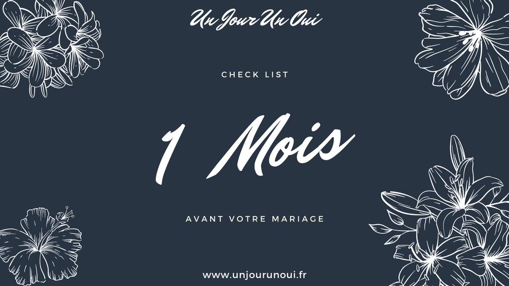 Check list pour votre mariage dans 12 mois - Un Jour Un Oui