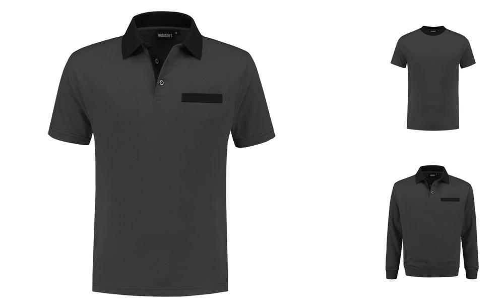 d315a20240d Indushirt Polo-shirt Bi-colour with (inset)pocket