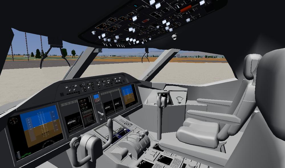 The modern 787 cockpit