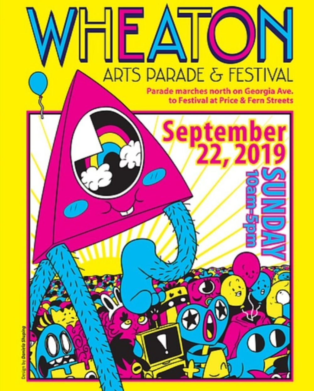 Wheaton Arts Parade and Festival is this Sunday, September 22, 2019.