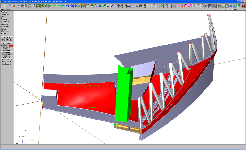 We integrate the customer files into our CAD/CAM Software