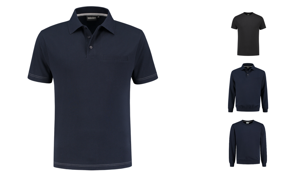 671f96d1 Polo-shirts with pocket - INDUSHIRT
