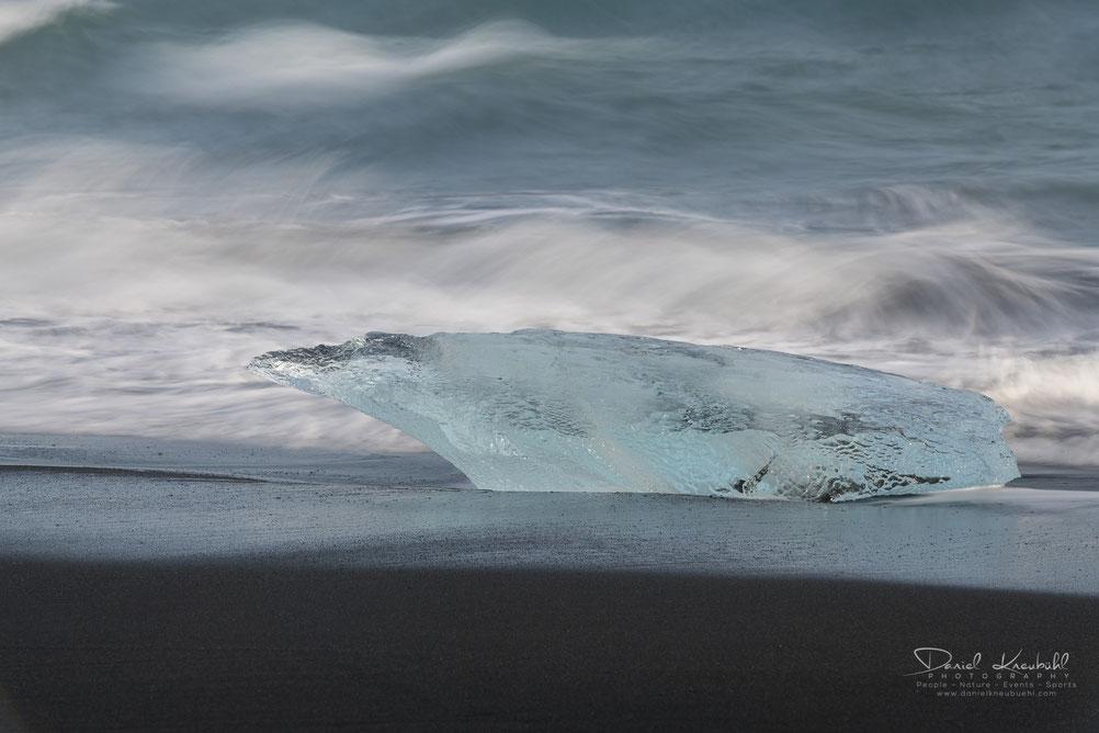 Diamond Beach, Gletscher, Eis, Eisblock, Eisberg, Meer, Strand, Beach, Iceland, Island, www.danielkneubuehl.com, Photographer/Fotograf: Daniel Kneubühl
