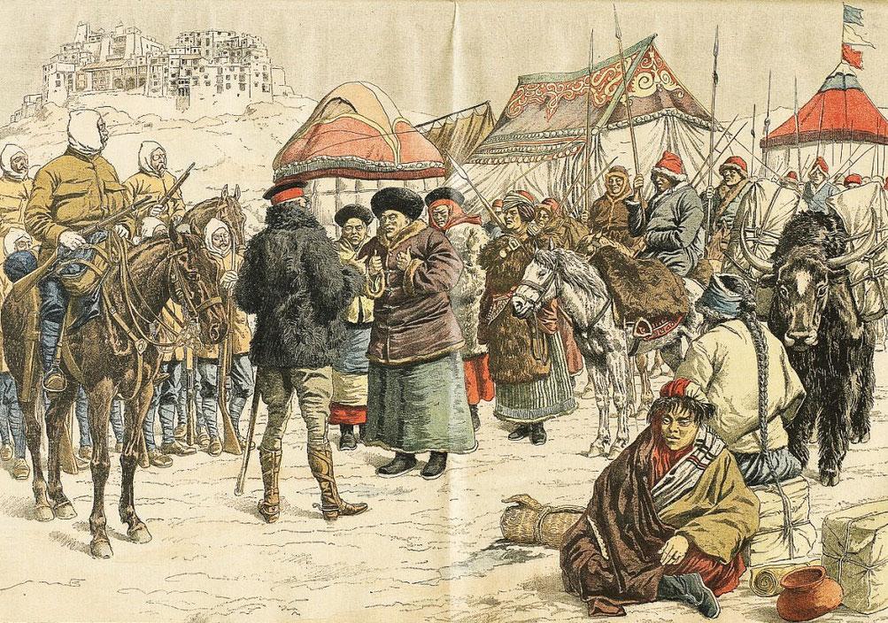 14 février 1904. Anglais au Thibet. Le Petit Journal, Supplément illustré, et la Chine  1890-1913, 1921-1931.