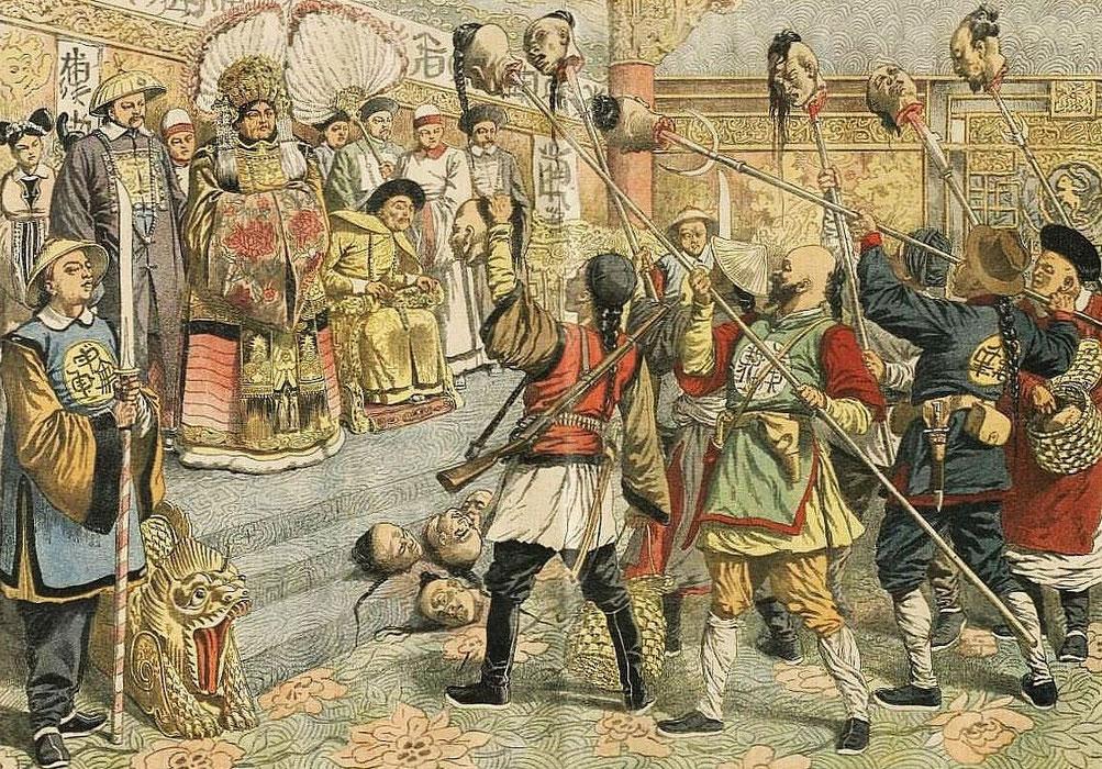 6 mars 1904. Têtes de mandarins. Le Petit Journal, Supplément illustré, et la Chine  1890-1913, 1921-1931.