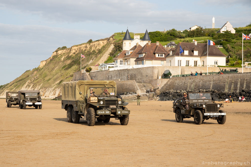 wwii d-day event in the normandie at arromanche