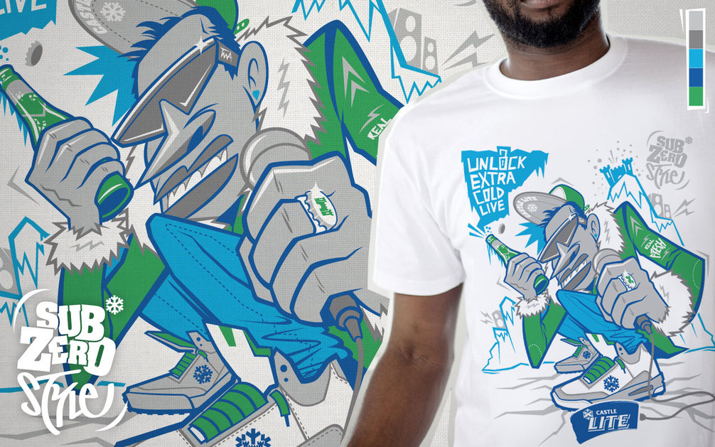 Castle Lite T-shirt design
