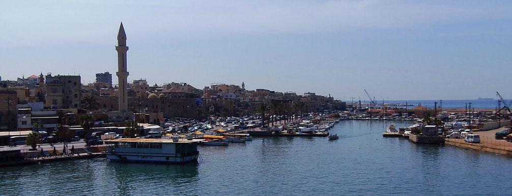 Das idyllische Fischerstädtchen Sidon (bzw. Saida) im Süden des Libanon