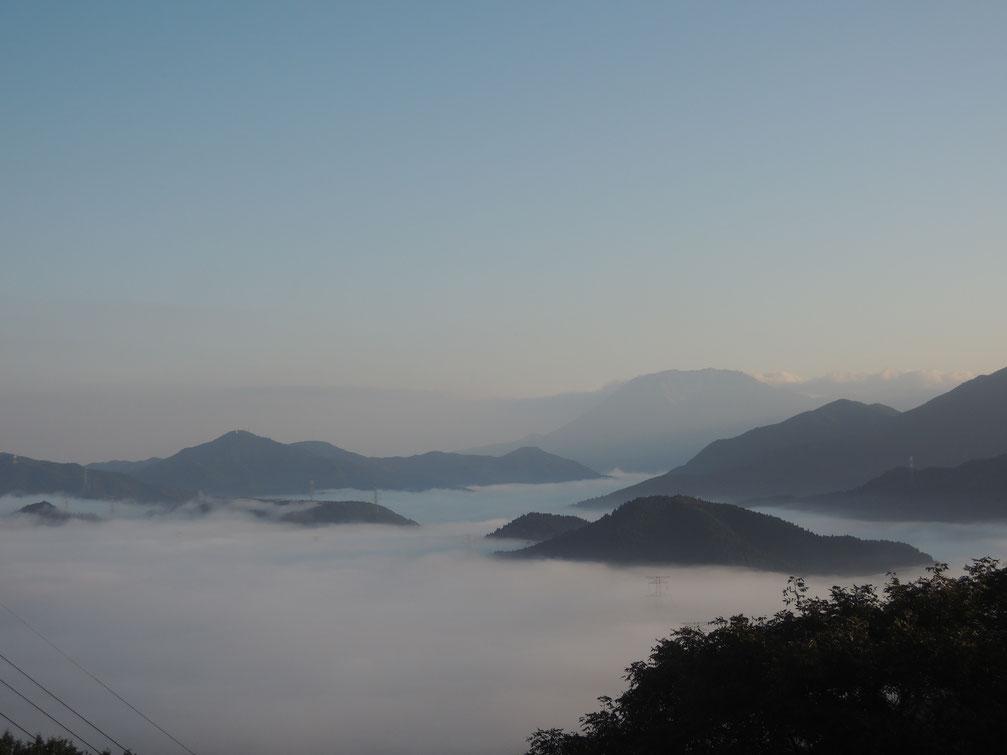 2020年10月、明智峠からの雲海