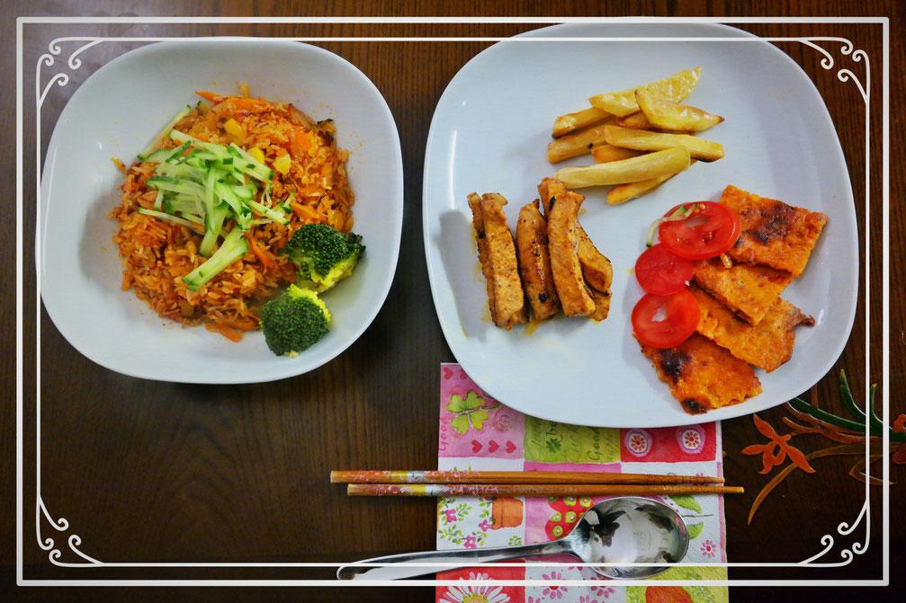 Jeon & Fries with Pork (by J.J.)