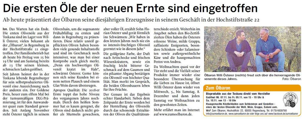 Mittelbayerische Zeitung 07.11.2018