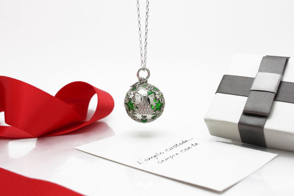 Idee regalo Natale mamma - chiama angeli argento