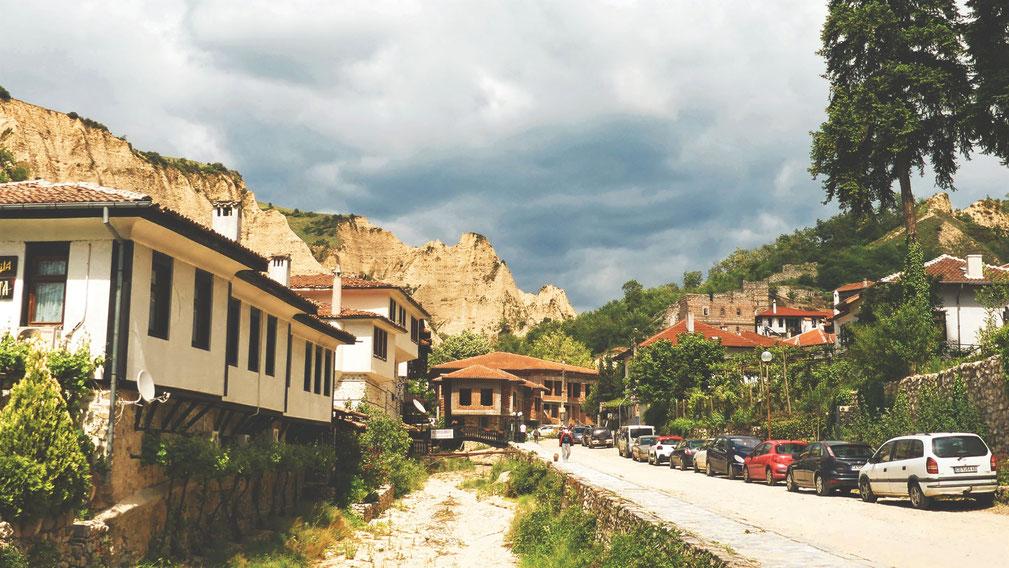 melnik bulgarie rue montagne balkans bigousteppes