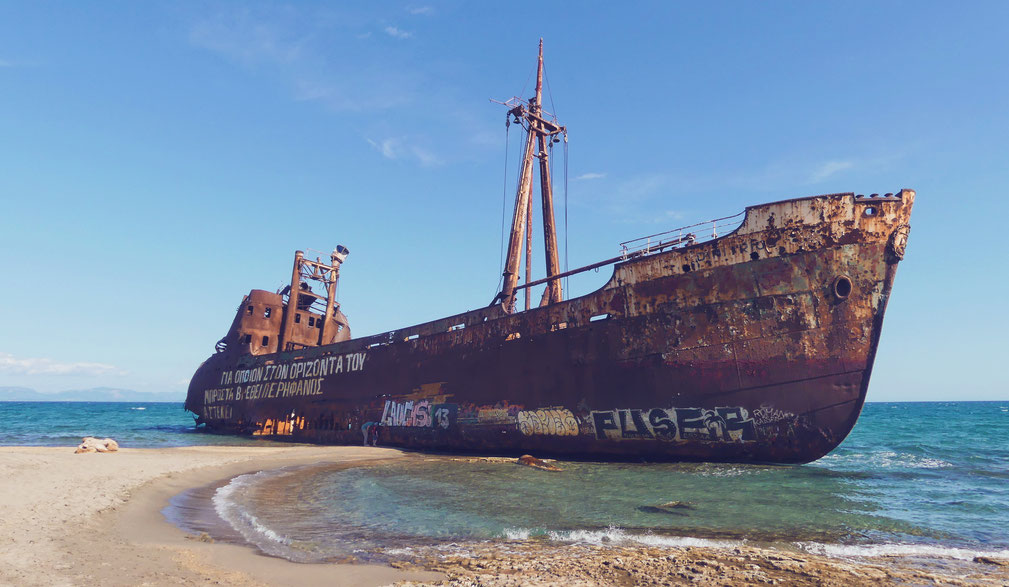 bigousteppes dimitrios navire épave grèce gythio péloponnèse