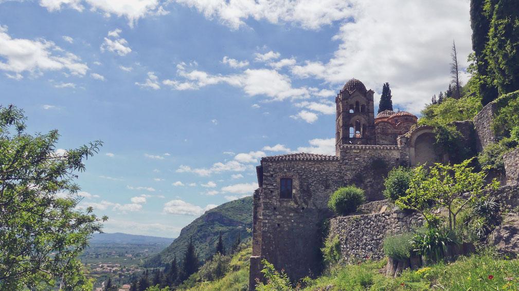 grèce bigousteppes mystras monastère
