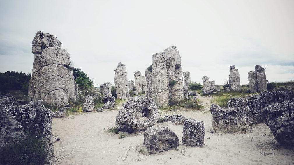 bigousteppes bulgarie foret petrifiée rochers curiosités