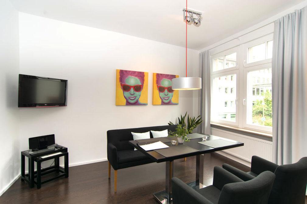 Ferienwohnung und Appartement Fachwerkstube in Heppenheim am Marktplatz.