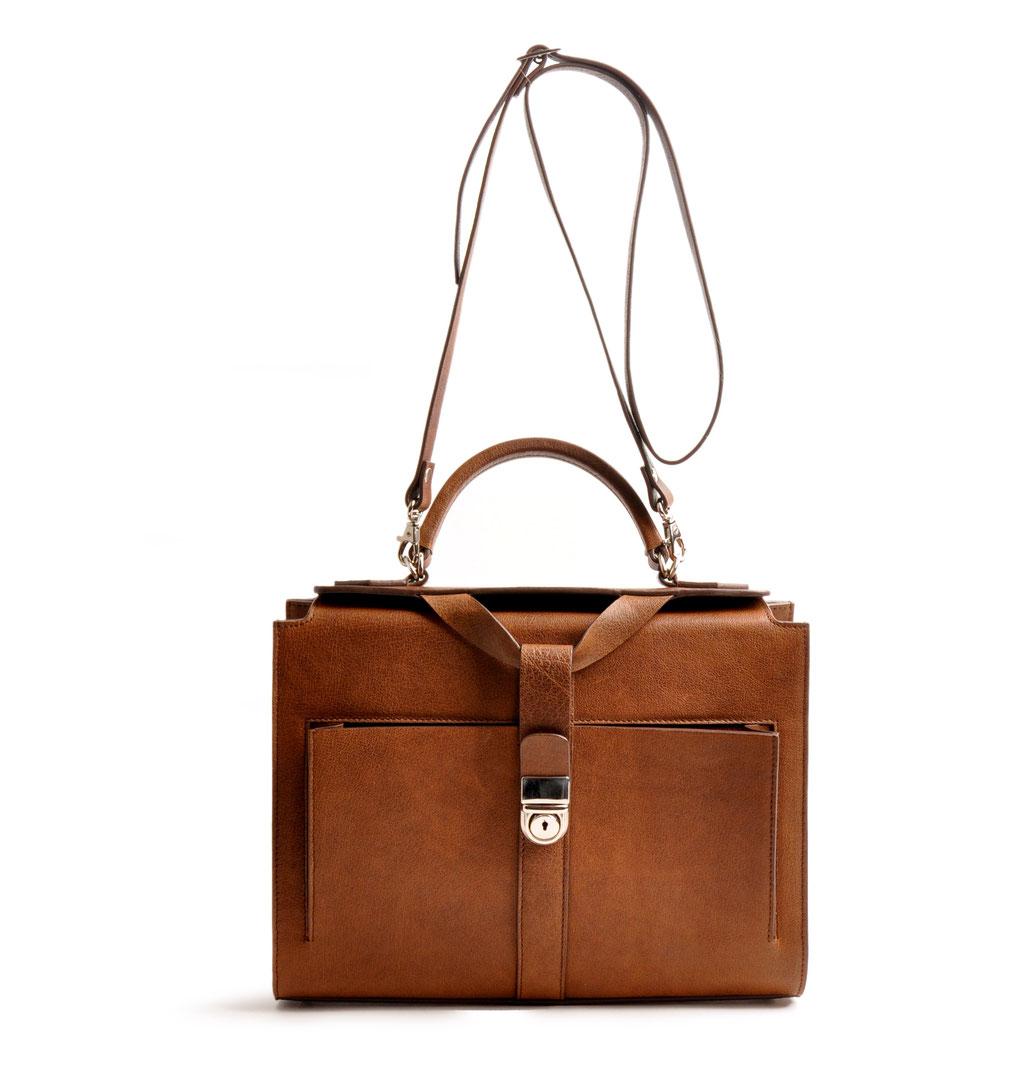 Online-Shop OWA Tracht Taschenmodell COLETTE Vintage-Look Henkeltasche Farbe braun OWA Tracht Ledertasche versandkostenfrei kaufen