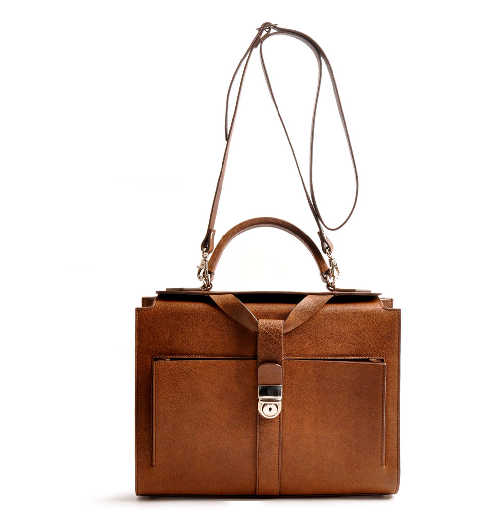Handcrafted Leather Bag COLETTE brown Leather Manufactory  OSTWALD Traditional Craft