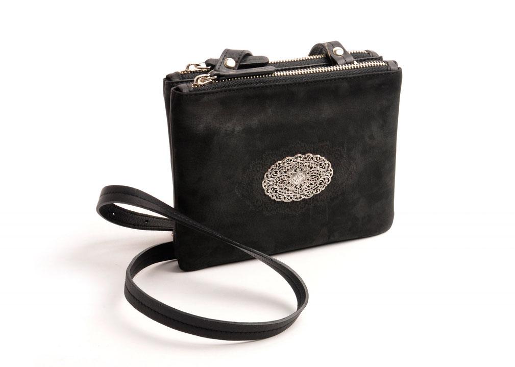 Trachtentasche Dirndltasche Leder schwarz OWA Tracht Online-Shop