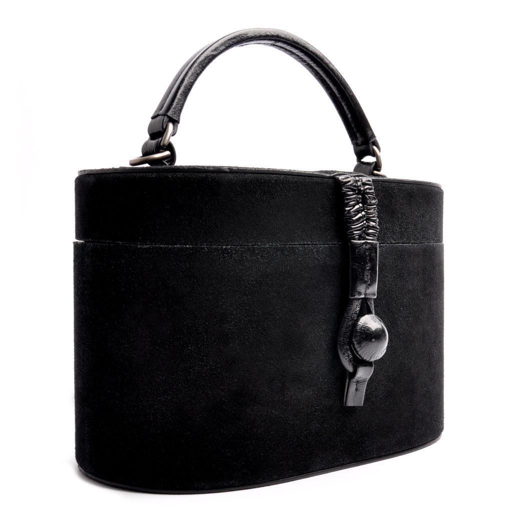 Ledertasche CAMILLE schwarz Vintage Stil  OSTWALD Traditional Craft