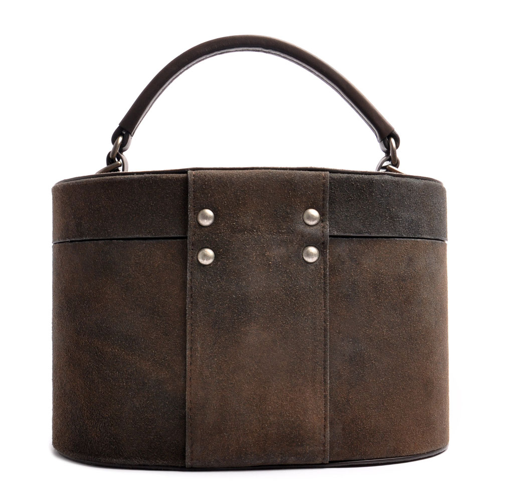 Ledertasche CAMILLE grau Vintage Stil  OSTWALD Traditional Craft