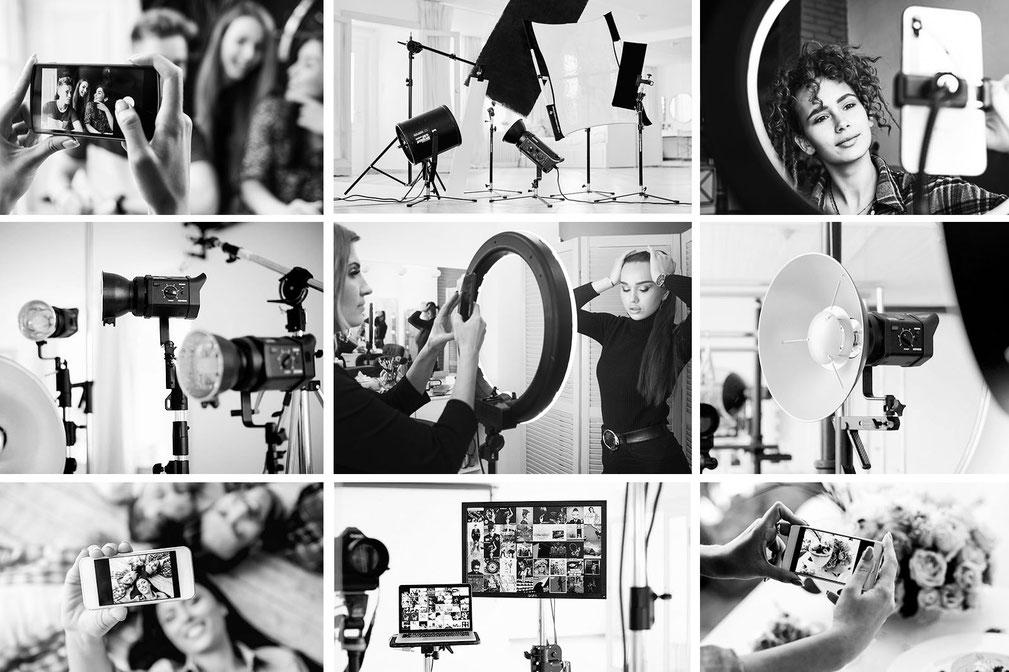 Lerne mit uns im Mietstudio Osnabrück bei einem Foto-Workshop wie du mit deinem Handy und ohne großen Aufwand spannende und kreative Fotos machen kannst