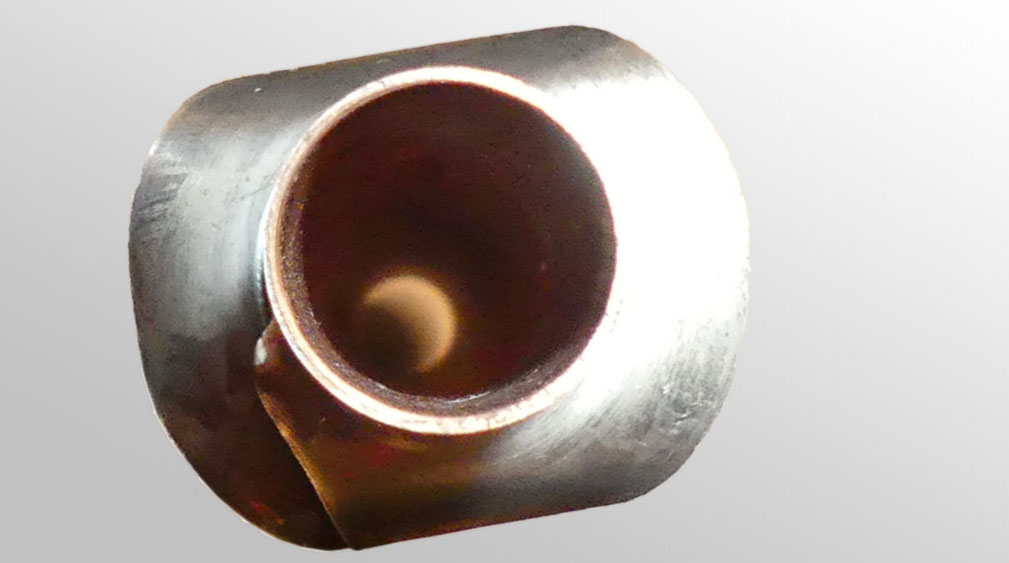 Nahaufnahme der einzigartigen Form der Lamellen.  Maximaler Wirkungsgrad bei minimalem Platzverbrauch.