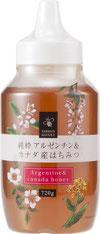 日新蜂蜜 純粋アルゼンチン&カナダ産はちみつ 720g 人気の二ヶ国(アルゼンチン百花蜜とカナダ百花蜜)のブレンドはちみつです。クセのない上品な香りとまろやかな風味に仕立てました。