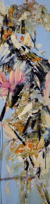 艳丽 BATHING BEAUTY 180X45CM 布面油画  OIL ON CANVAS  2012