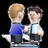 Handshake von zwei Personen