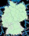Karte zur Verbreitungdichte des Raubwürgers in Deutschland im Winter.