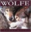 Bucheinband mit zwei Wölfen