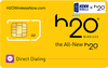 アメリカKDDI x H2O SIMカード