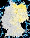 Karte zur Verbreitung des Schlagschwirls (Locustella fluviatilis) in Deutschland.
