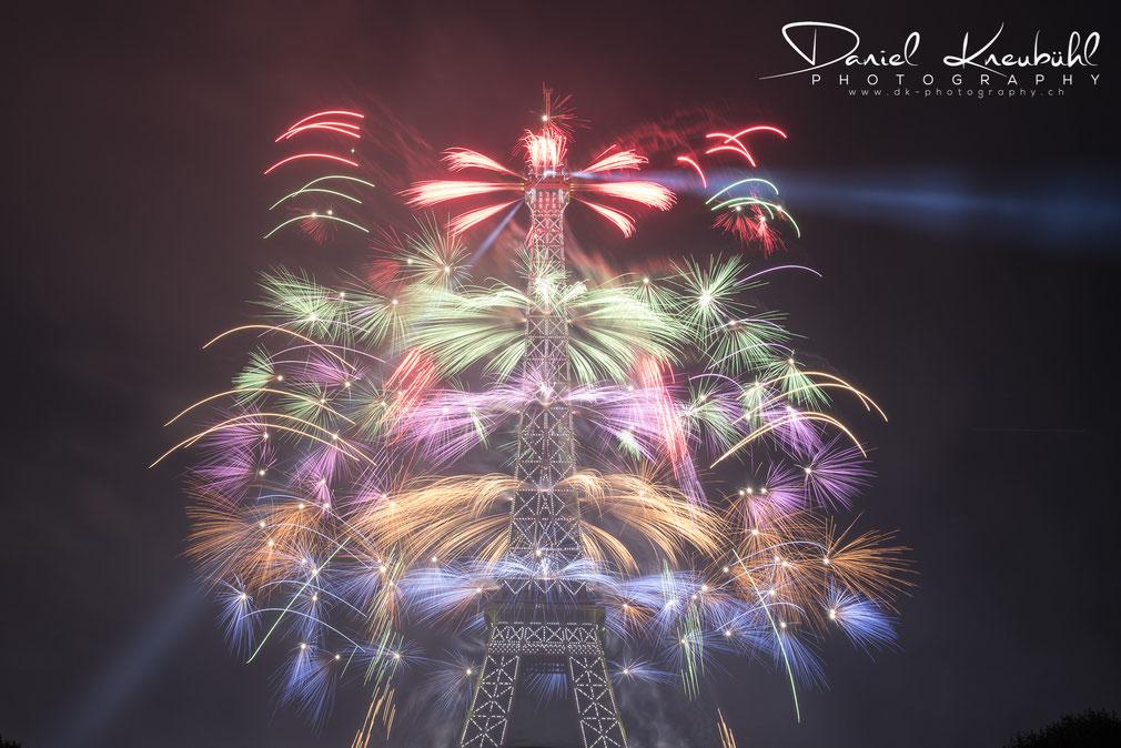 feu d'artifice, Paris, Tour Eiffel, 14.07.2017, www.dk-photography.ch, Photographer: Daniel Kneubühl