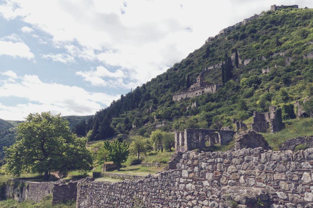 bigousteppes mystras balkans grèce peloponnèse site antique montagne ruine