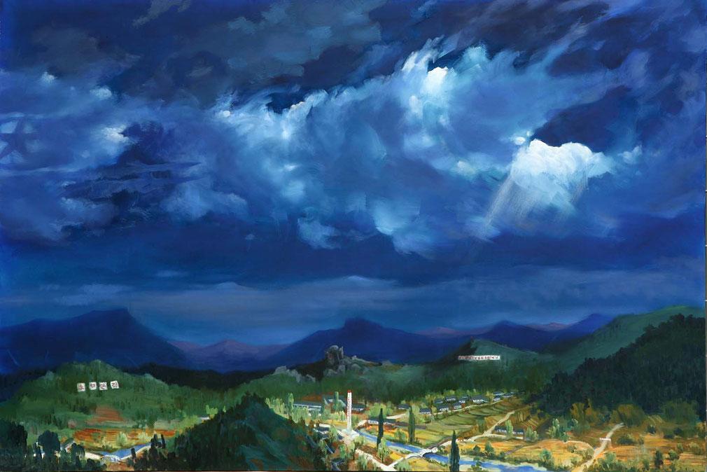 La mia città natale | Sun Mu | olio su tela, 130x194cm - 2007