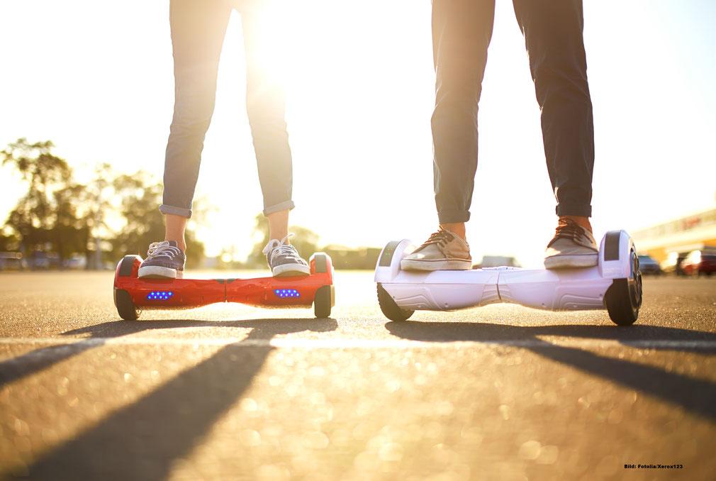 Für den Straßenverkehr nicht zugelassen: Hoverboards