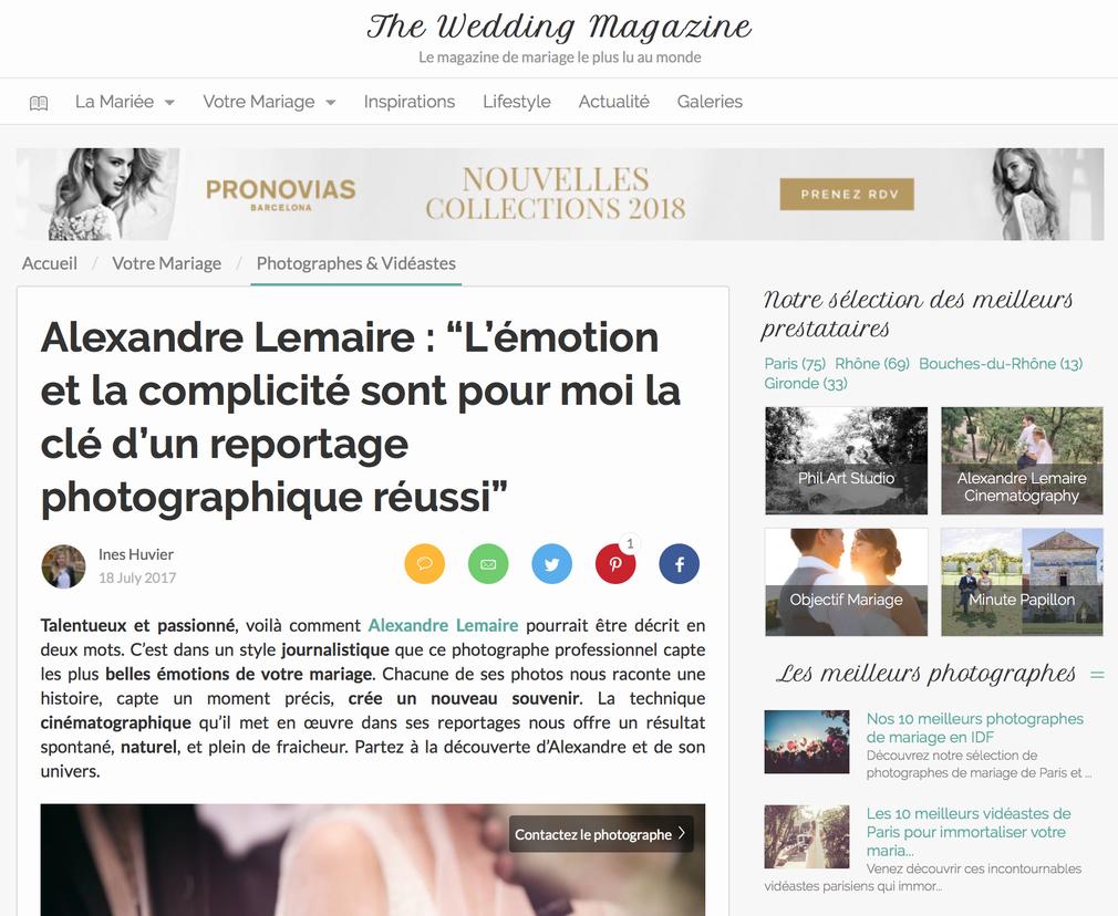 ZANKYOU : The Wedding Magazine Alexandre LEMAIRE Cinematography