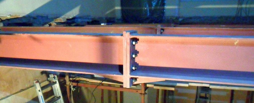 Изготовление составных балок перекрытия с фланцевым соединением