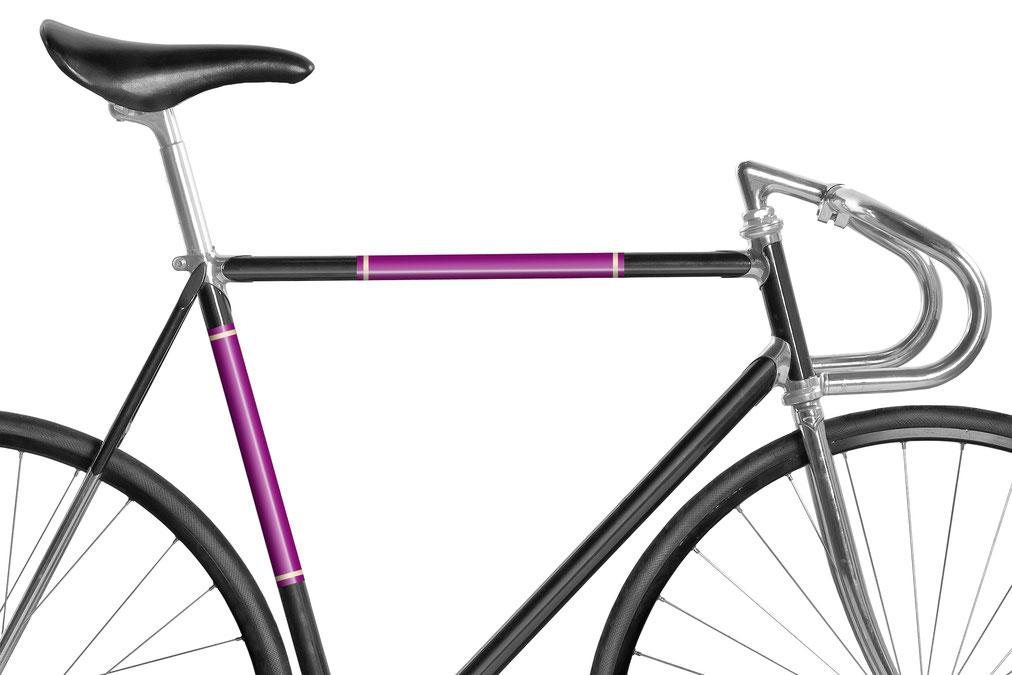 Fahrrad reflektierende Folie Purpurrot