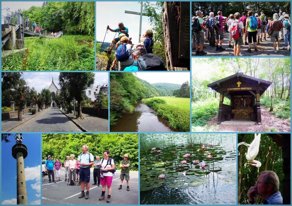 4 Tage WWV-Wanderung Collage  © Hildegard Jöris