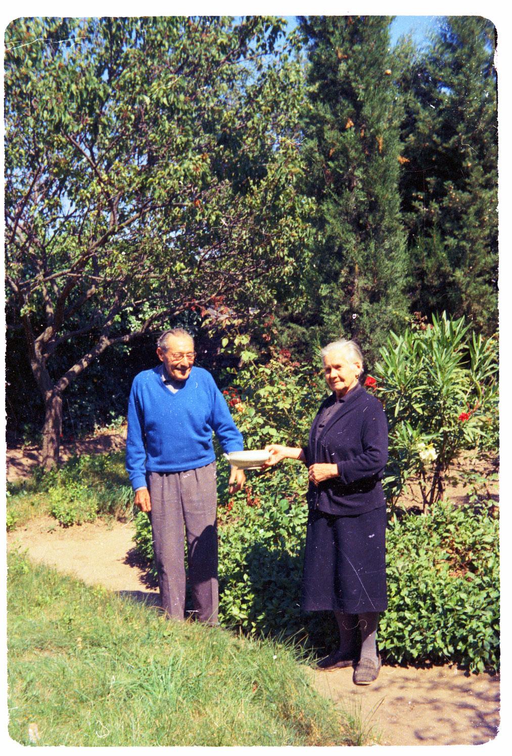 Honorine  et Jean Obrador en septembre 1980