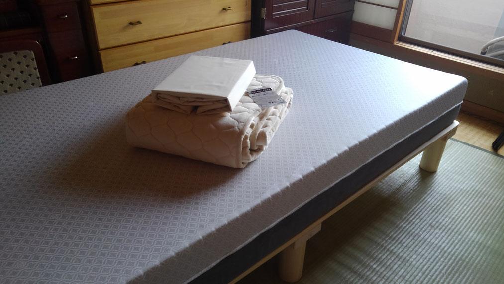 オーダーメイドマットレスとひのきベッド
