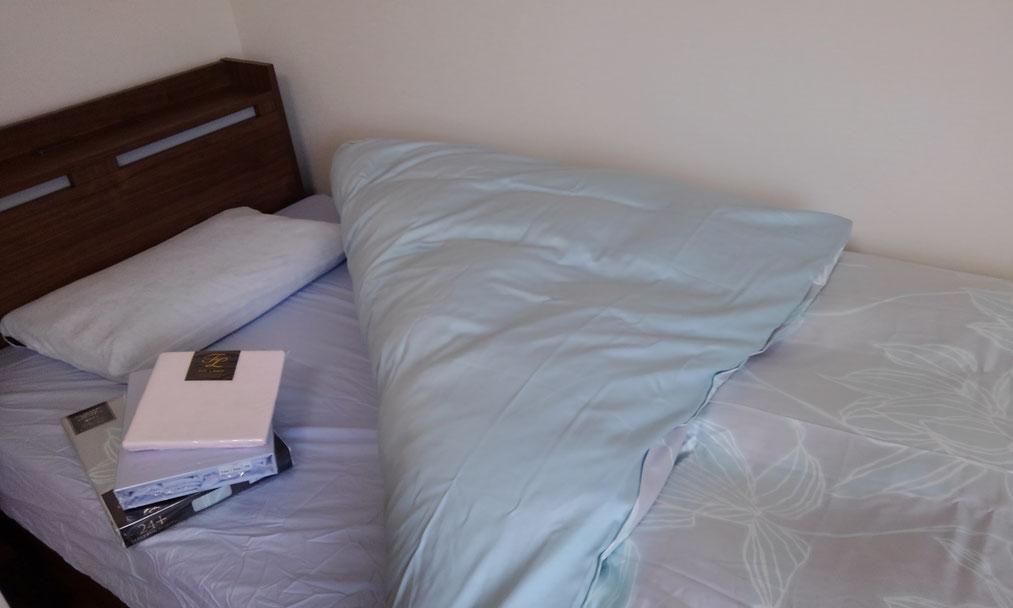 寝具一式セッティング完了