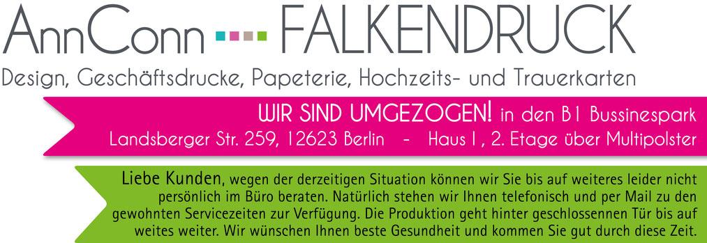 Annconn Falkendruck Druckerei Hellersdorf Kaulsdorf