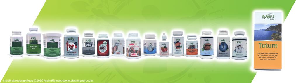 les produits syner.j health la gamme-Alain RIVERA RSYNERJ
