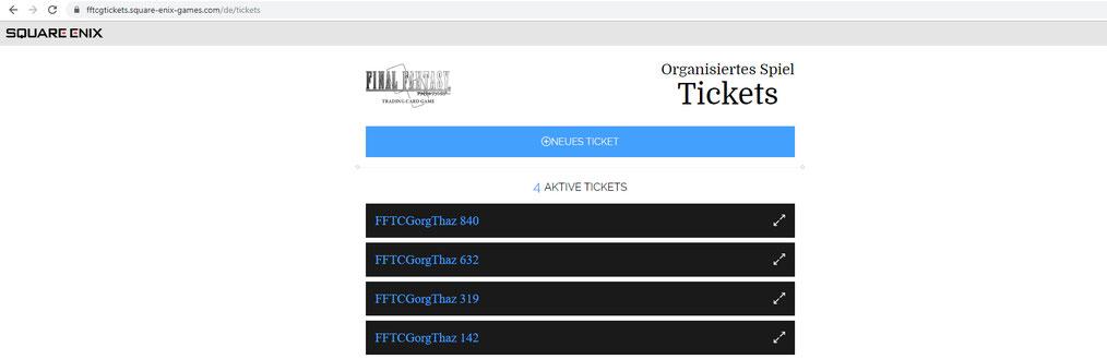 Du kannst bis zu 5 Tickets generieren. Pro Turnier kann nur 1 Ticket genutzt werden.