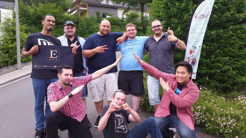 Die Top8: Dennis, Ronny, Nadir, Raphael, Ridvan, Nino, Tobias, Vinh